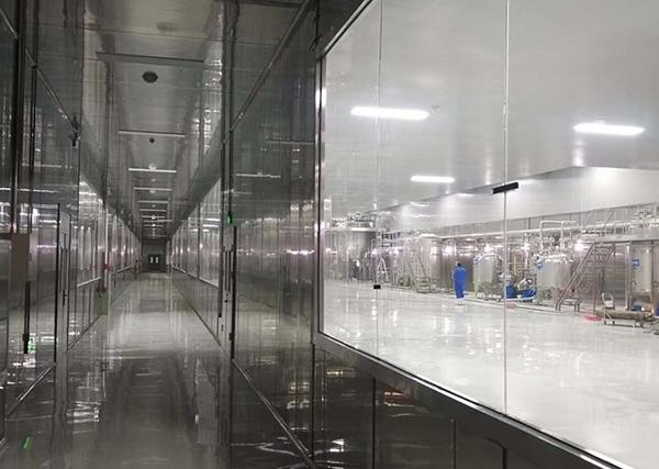 九三集团铁岭天威骨汤生产车间不锈钢板